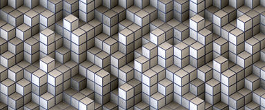 White blocks organized Stock Image