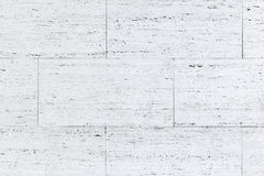 White blocks of stone wall, background photo texture Stock Photo