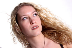 White Blond Woman Royalty Free Stock Image