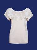 White blouse. Woman fashion isolated white blouse shirt  jacket vest Royalty Free Stock Photos