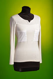 White blouse with two pockets Stock Images