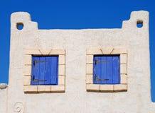 Blue Wooden Windows Stock Photos