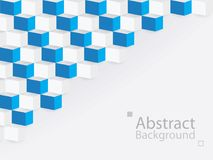 White blue abstract background square 3d modern paper. This is white blue abstract background square 3d modern paper royalty free illustration
