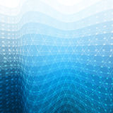 White and blue abstract mosaic background stock illustration