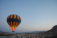 White and Blue Air Balloon in Aerial Photography during Daytime Royalty Free Stock Photography