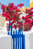 White-blue architecture on Santorini island, Greece Stock Images