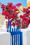 White-blue architecture on Santorini island, Greece Stock Images
