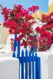 White-blue architecture on Santorini island, Greece Royalty Free Stock Images