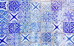 White Blue Azulejo Moroccan Tile Background royalty free stock photography