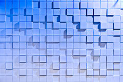 White and blue background of regularly shaped Stock Image