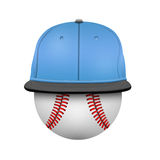White  and  blue  baseball cap template Stock Photography