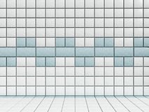 White and blue bathroom  tiles Royalty Free Stock Image