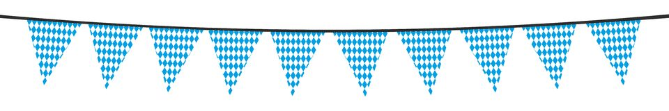 White blue bavarian party pennant Royalty Free Stock Photography