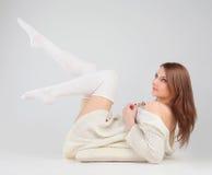 White on blue Royalty Free Stock Photos