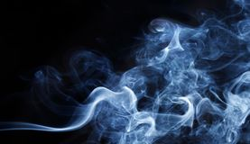 White,blue, black and rainbow colorful smoke pattern. Texture, background Stock Photography