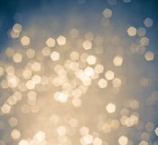 White and blue bokeh light background Stock Photo