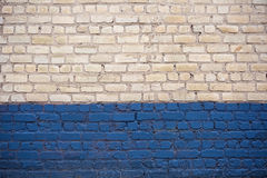 White and blue brick wall Royalty Free Stock Photography