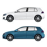 White and Blue Car Stock Photo