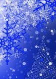 White & Blue Christmas Royalty Free Stock Images