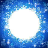 White And Blue Christmas background with snowflakes  Stock Photos