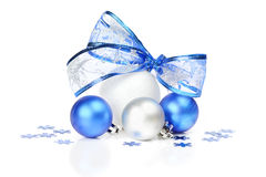 White and blue Christmas decoration Stock Images