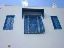 White-blue city Stock Image