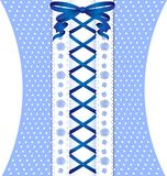 white-blue coquettish lace Royalty Free Stock Photography