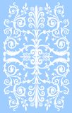 White on blue culed stripe Royalty Free Stock Photography