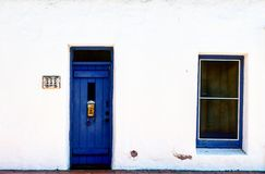 White blue. White and blue door stock photo
