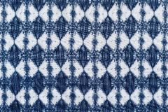 White blue fabric with a rhombic pattern Royalty Free Stock Images