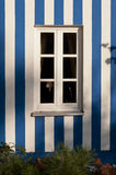 White and Blue Facade Stock Images