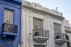 White and blue facades Royalty Free Stock Images