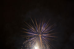 White and Blue Fireworks Stock Photo