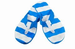 White blue flip flop Royalty Free Stock Images