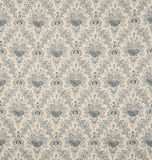 White and Blue Floral Design Diagonal Pattern Wallpaper Swatch Stock Photo