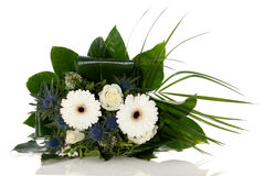 White blue flower bouquet Stock Photos