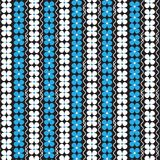 White and blue flower vertical striped with white curly vertical. Line pattern black background vector illustration image Stock Images