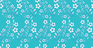 White blue flowers on blue background Royalty Free Stock Photos