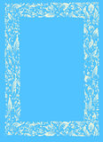 White-blue frame. Painting - frame with folklore ukrainian pattern Royalty Free Stock Image