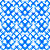 White Blue Gingham Pattern Unusual Brush Strokes Royalty Free Stock Photography