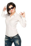White and Blue girl Stock Photography