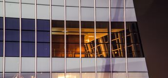 White and Blue Glass Window High Rise Building Stock Images