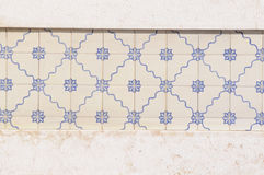 White and Blue Glazed Tiles Royalty Free Stock Photos