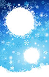 White And Blue Gradient Christmas background with snowflakes Stock Images