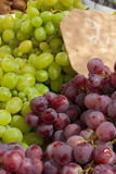 White and blue grapes Royalty Free Stock Photos