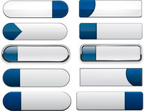 White-blue high-detailed modern web buttons. Stock Images