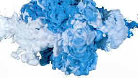 White and Blue Ink in Water royalty free stock photos