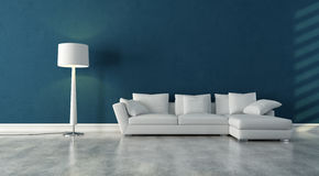 White and blue interior royalty free illustration