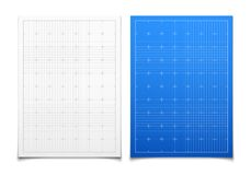 White and blue isolated square grid set with Stock Images