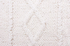 White blue knitted texture with pattern Stock Photos